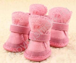 Ботиночки 'Угги' розовые