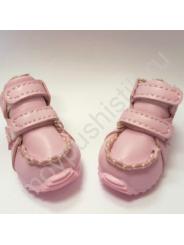 """Ботинки для собак """"Эко кожа"""" на меху розовые"""