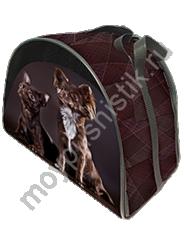 Сумка - переноска Дизайн - Чихуа шоколадный размер М