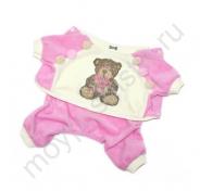 """Велюровый комбинезон 'Bear"""" розовый"""
