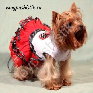 Платье 'Клубничка' красное