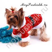 Новогоднее пальто 'Дед Мороз' красное