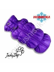 Жилет утепленный с высоким воротником - фиолетовый