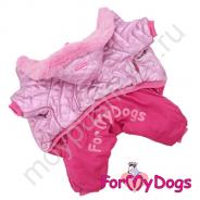 Комбинезон розовый для девочек ForMyDogs FW524-2018 F