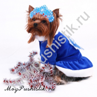 Новогоднее платье 'Снегурочка' синее