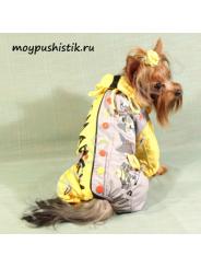 Дождевик Hipster желт/сер