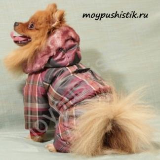 """Комбинезон """"ЗИМНИЙ"""" для девочки бордовый"""