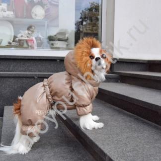 """Пуховик для собак """"Беж"""""""